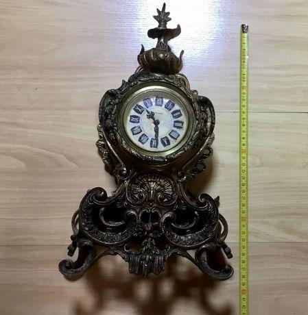 Relógio de mesa antigo Greb. Hauser Mercedes