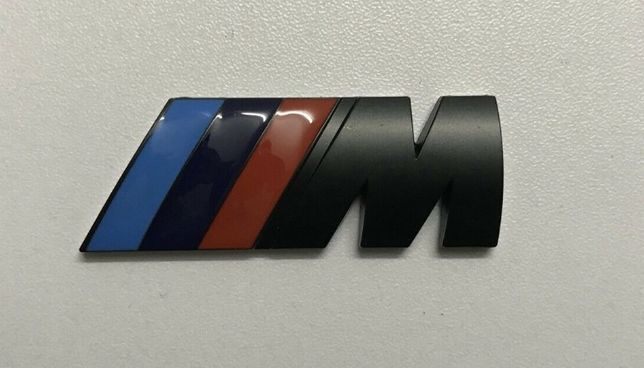 NOWY emblemat znaczek logo BMW M Power czarny mpower