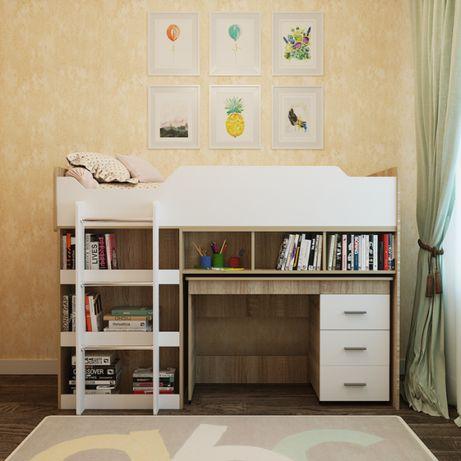 Кровать чердак Микс Детская кровать Купить кровать Кровать под заказ