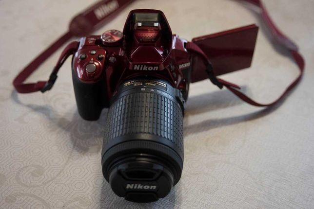 Nikon D5300 ruby red с комплектом