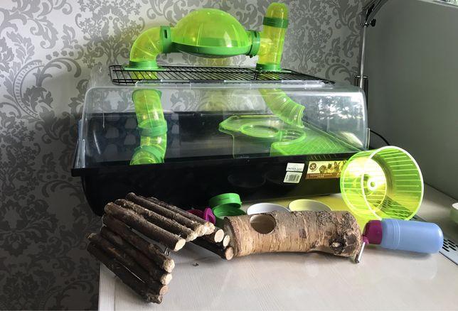 Klatka dla gryzoni(chomika,szczura,myszki,myszoskoczka) z akcesoriami