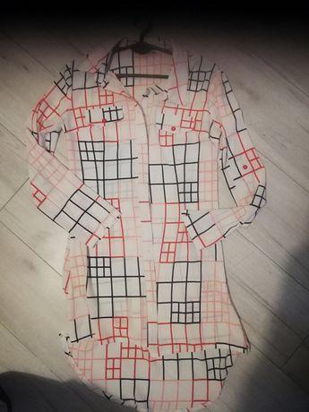 Długa koszula sukienka 38