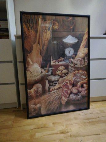 Obraz plakat dekoracyjny do kuchni duży z ramą