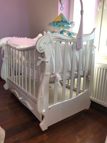 Дитяче ліжечко Veres , матрац , боковинки, балдахін