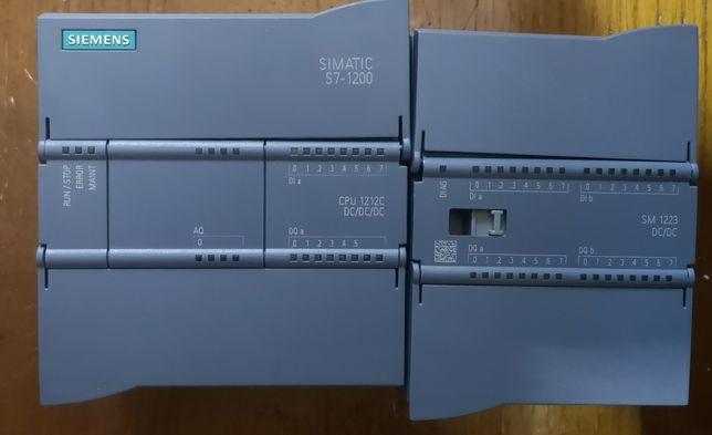 Autómato Siemens S7 1200 com módulo analógico e expansão digitais