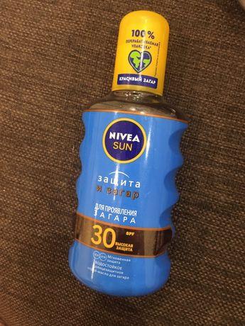 Солнцезащитное масло-спрей Nivea Sun Защита и загар SPF 30 водостойкое
