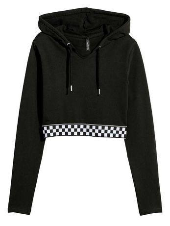 Худи Н&М однотонные чёрные хлопок/ Hoodie H&M plain black cotton