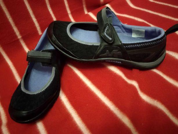 Лето кожаные Ecco балетки босоножки 38 р туфли текстиль merrell черные