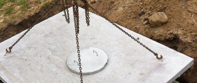 Zbiornik betonowy na deszczówkę. Zbiorniki na wodę opadową .