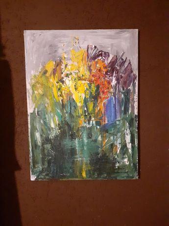 Obraz olejny na płótnie 70x57 Henryka Wojewody