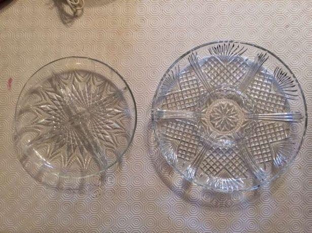 Pratos de vidro para aperitivos