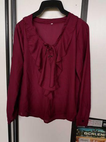 Koszula bordowa z żabotem