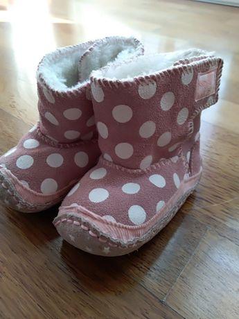 Buciki buty Next zimowe skórzane jak nowe kozaczki
