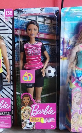 Barbie you can be anything, piłkarka, fashionistas