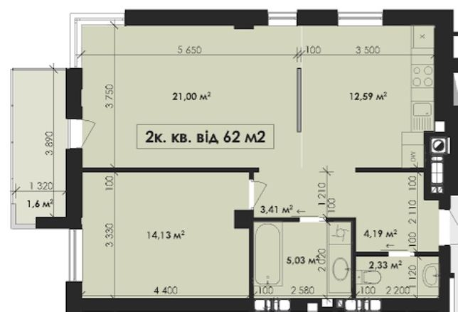 Елітна 2 кім квартира біля Озера ,вул Мазепи