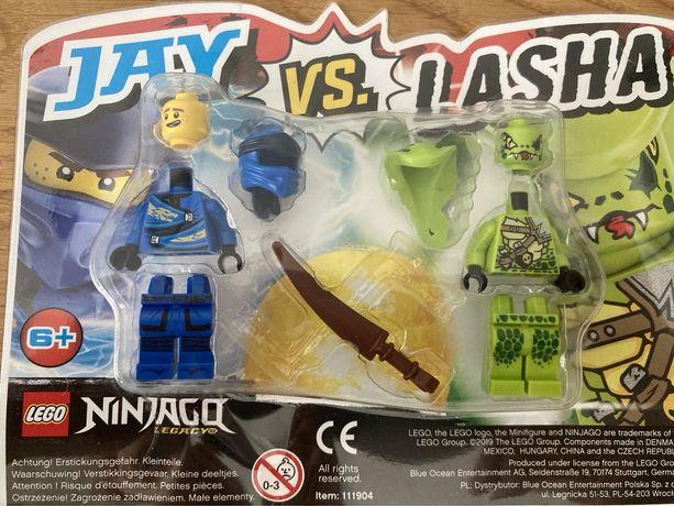 Lego NINJAGO figurki JAY lub COLE vs LASHA- oryginalne