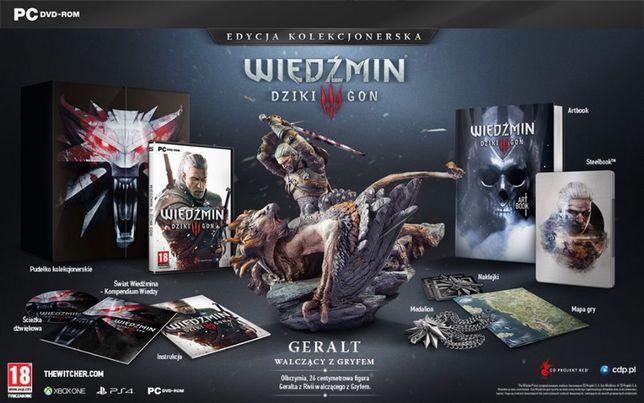 .Wiedźmin 3 III PC Dziki Gon Edycja Kolekcjonerska -figurka artbook