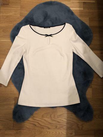 Koszulka biała z czarną lamówką Orsay r. S