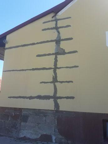 Naprawa pęknięć w murze, naprawa murów, ankrowanie murów, fundamentów