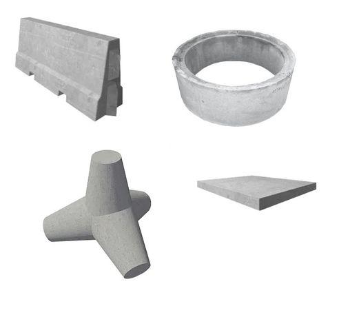 Płyta drogowa, gwiazdobok, zapora drogowa, Krąg betonowy