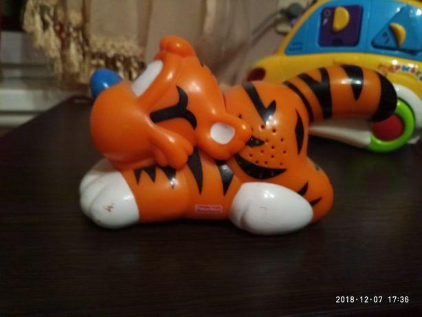 Тигр фонарик Fisher price