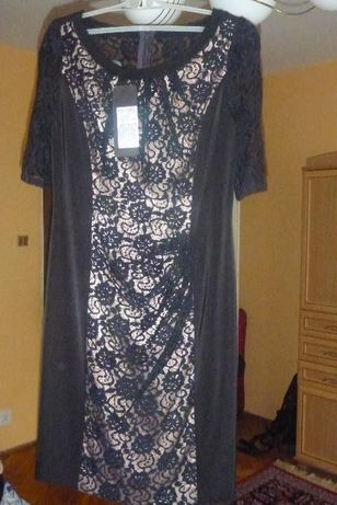 nowa sukienka koronka czarna 36 S