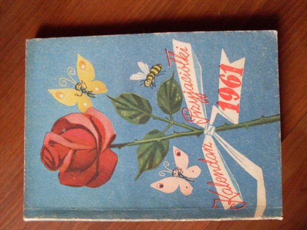 Pamiątki PRL Kalendarz przyjaciółki 1961 rok