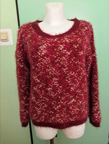 sweter włochaty melanżowy bluza XL 42