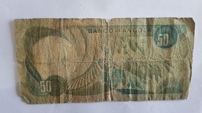 Nota de 50 Escudos 1972 Marechal Carmona (Angola)