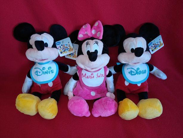 Minnie e Mickey com nome 40 cm