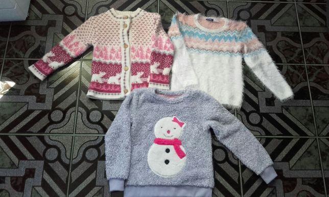 """Śliczne sweterki/bluzy roz. 110/116 """"dopo dopo grils, Lupilu"""" (CAŁOŚĆ)"""