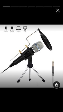 Микрофон Professional Condenser Microphone Recording with Stand for PC