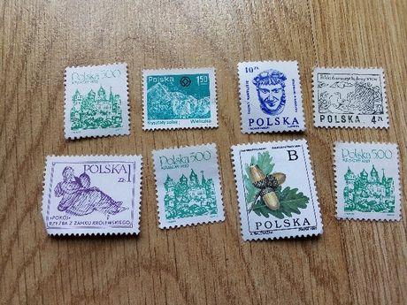 znaczki Polska 8 sztuk zestaw czyste