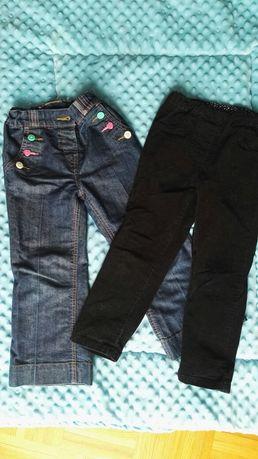 Spodnie, spodenki jeansy i sztruksy czarne 3-5 lat, 104