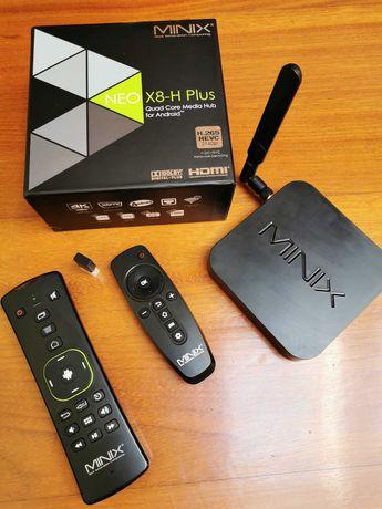 Mini PC Minix NEO X8-H Plus, com 2 comandos