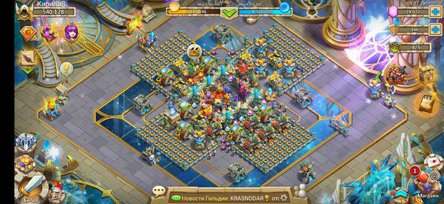 Продам аккаунт Битвы замков / Сastle clash 540к. сили