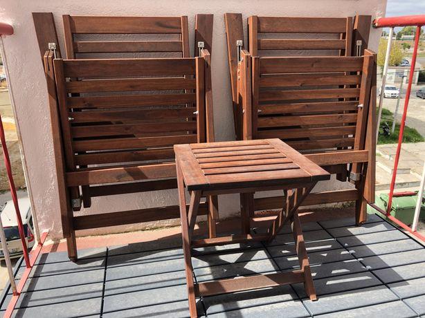 Mesa e Cadeiras ÄPPLARÖ (Ikea)