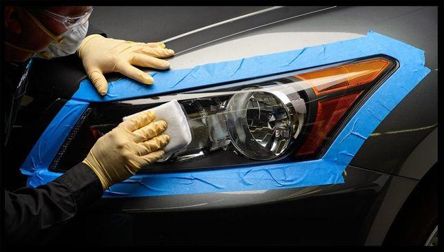 Regeneracja polerowanie reflektorów lamp samochodowych 90zl/kpl