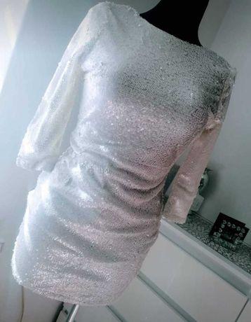 Biala Sukienka panienski poprawiny