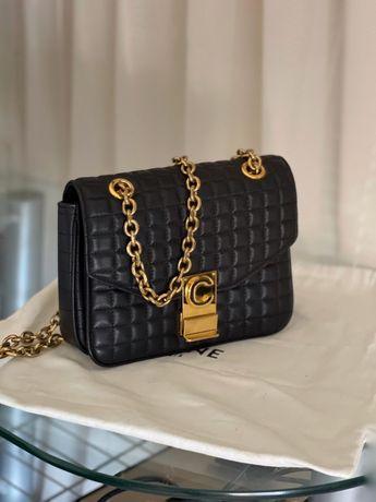 Celine Paris кожаная женская сумка