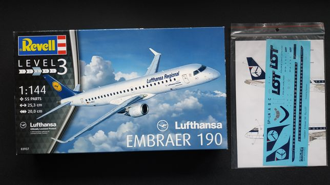 Embraer 190 Revell + kalki PLL LOT Old Livery