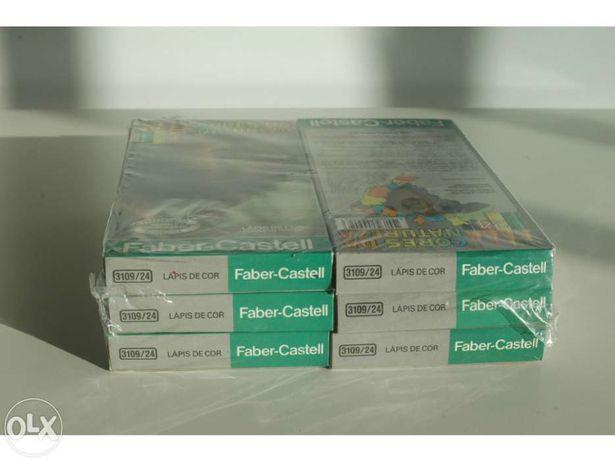6 Embalagens de 24 Lápis de Cor Faber Castell