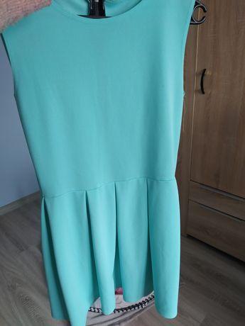 Miętowa sukienka Pakuten