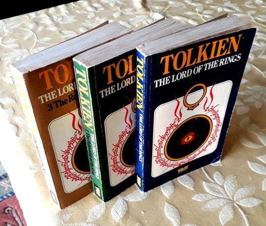 J R R Tolkien - Senhor dos Anéis Vol. I, II e III Paperback 1979 ENG