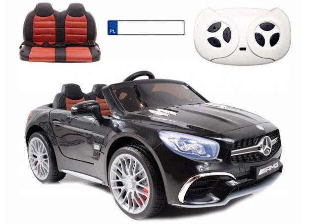 Auto na akumulator Mercedes AMG SL65 Czarny Lakierowany Autko dzieci