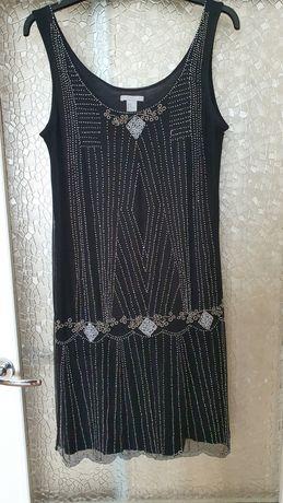 Sukienka koraliki, H&M, rozmiar: M-L