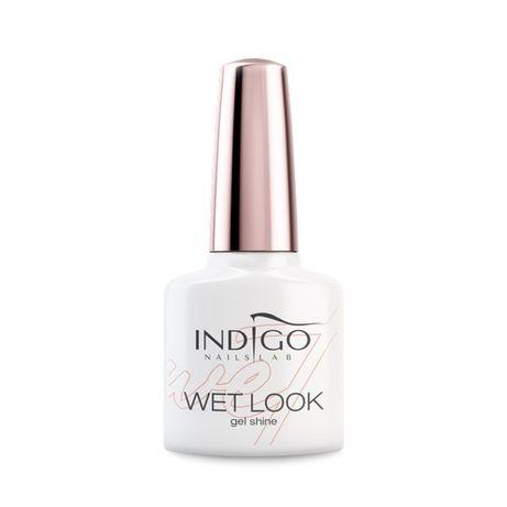 Top wet look Indigo