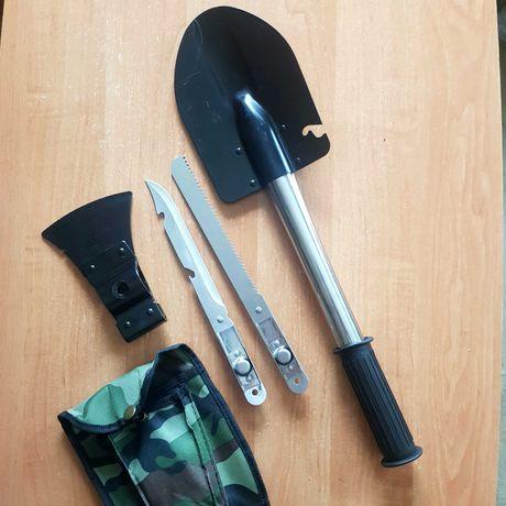 Туристический набор 4в1 (лопата, топор, штык нож, пила) в чехле