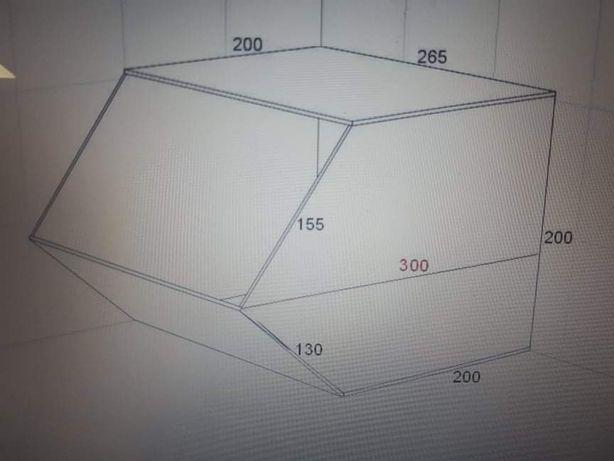 Контейнер акриловый (ящик, бокс, ячейка)