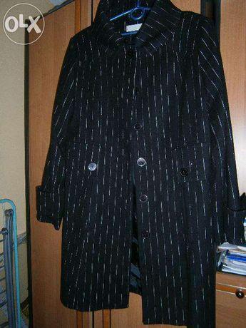 Czarny płaszcz wiosna/jesień Exclusive jak nowy, rozm 42